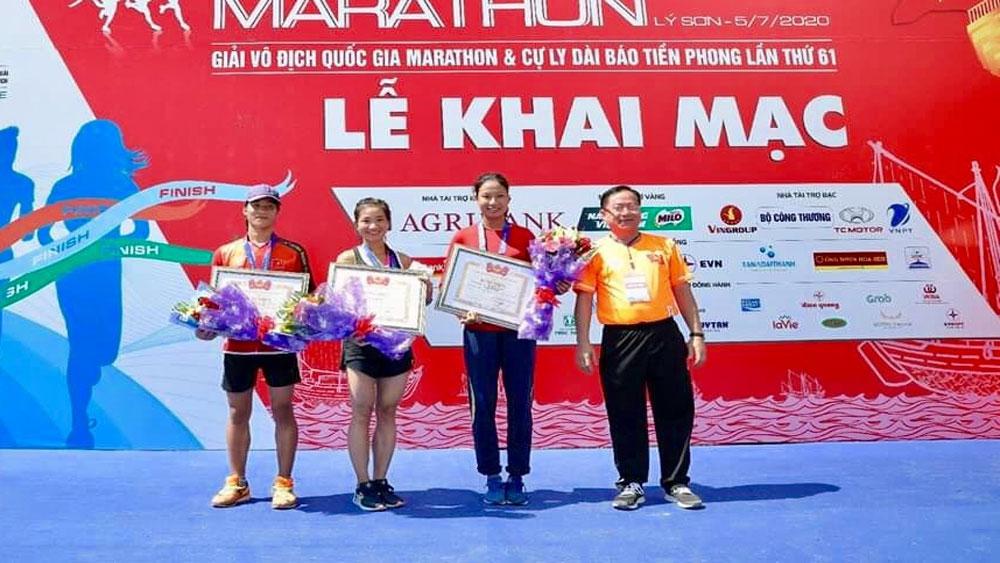VĐV Nguyễn Thị Oanh (Bắc Giang) giành HCV Giải vô địch quốc gia Marathon và cự ly dài Báo Tiền Phong
